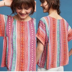 Anthropologie Colorful Top